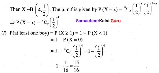 Samacheer Kalvi 12th Business Maths Solutions Chapter 7 Probability Distributions Ex 7.1 Q13