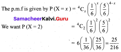 Samacheer Kalvi 12th Business Maths Solutions Chapter 7 Probability Distributions Ex 7.1 Q15