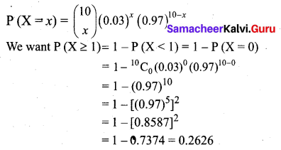 Samacheer Kalvi 12th Business Maths Solutions Chapter 7 Probability Distributions Ex 7.1 Q18