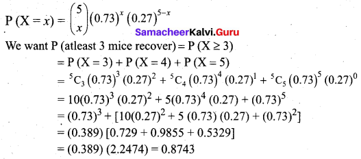 Samacheer Kalvi 12th Business Maths Solutions Chapter 7 Probability Distributions Ex 7.1 Q19