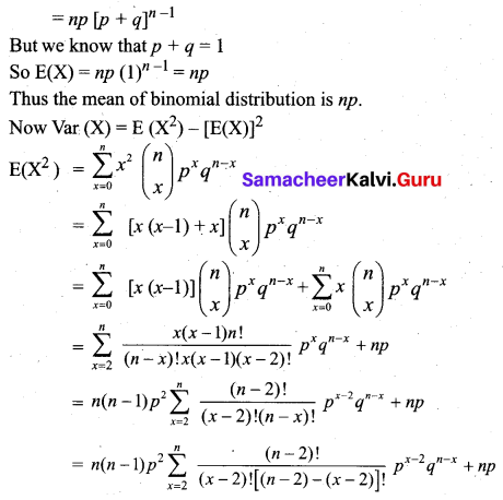 Samacheer Kalvi 12th Business Maths Solutions Chapter 7 Probability Distributions Ex 7.1 Q3.1