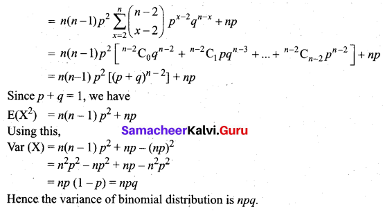 Samacheer Kalvi 12th Business Maths Solutions Chapter 7 Probability Distributions Ex 7.1 Q3.2