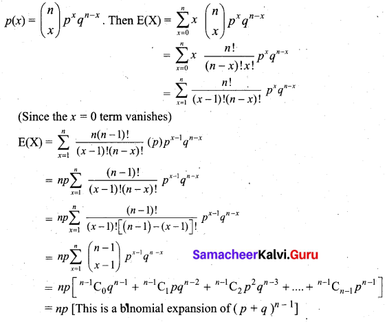 Samacheer Kalvi 12th Business Maths Solutions Chapter 7 Probability Distributions Ex 7.1 Q3