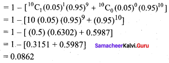 Samacheer Kalvi 12th Business Maths Solutions Chapter 7 Probability Distributions Ex 7.1 Q6.1