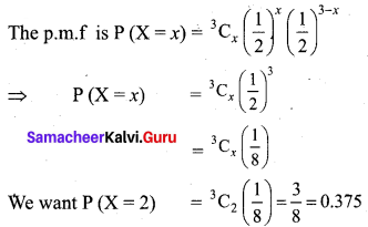 Samacheer Kalvi 12th Business Maths Solutions Chapter 7 Probability Distributions Ex 7.1 Q8