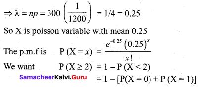 Samacheer Kalvi 12th Business Maths Solutions Chapter 7 Probability Distributions Ex 7.2 Q11