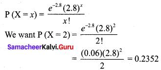 Samacheer Kalvi 12th Business Maths Solutions Chapter 7 Probability Distributions Ex 7.2 Q6