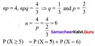 Samacheer Kalvi 12th Business Maths Solutions Chapter 7 Probability Distributions Ex 7.4 Q10