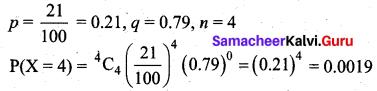 Samacheer Kalvi 12th Business Maths Solutions Chapter 7 Probability Distributions Ex 7.4 Q19
