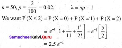 Samacheer Kalvi 12th Business Maths Solutions Chapter 7 Probability Distributions Ex 7.4 Q8
