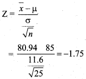 Samacheer Kalvi 12th Business Maths Solutions Chapter 8 Sampling Techniques and Statistical Inference Additional Problems III Q5.1
