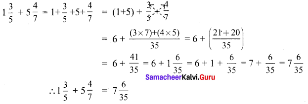 6th Maths Guide Term 3 Pdf Chapter 1 Fractions Ex 1.1 Samacheer Kalvi