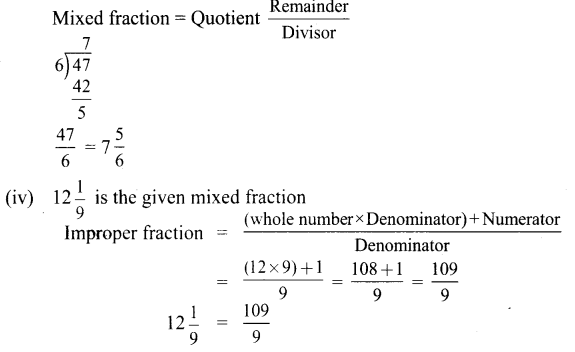 6th Maths Term 3 Exercise 1.1 Chapter 1 Fractions Samacheer Kalvi