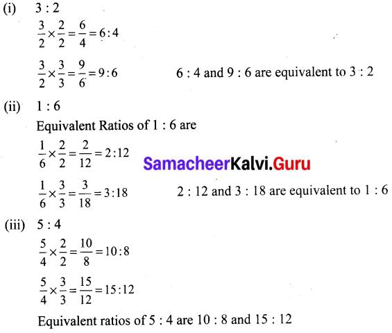 Samacheer Kalvi 6th Maths Term 1 Chapter 3 Ratio and Proportion Ex 3.2 Q4
