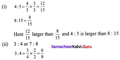 Samacheer Kalvi 6th Maths Term 1 Chapter 3 Ratio and Proportion Ex 3.2 Q5