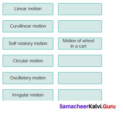 Samacheer Kalvi Guru 6th Standard Science Solutions Term 1 Chapter 2 Force And Motion