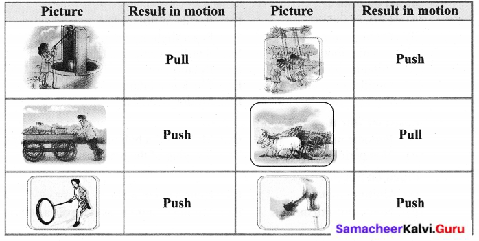 Samacheer Kalvi Guru 6th Science Book Back Answers Term 1 Chapter 2 Force And Motion