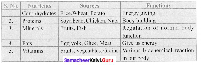 Samacheer Kalvi 6th Science Solutions Term 1 Chapter 6 Health and Hygiene 14