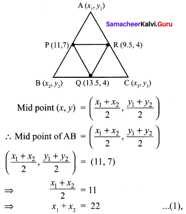 10th Maths Chapter 5 Exercise 5.1 Chapter 5 Coordinate Geometry