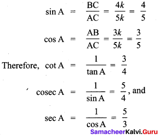 Samacheer Kalvi 10th Maths Solutions Chapter 6 Trigonometry Additional Questions 2