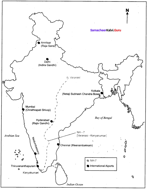 Samacheer Kalvi 10th Social Science Geography Solutions Chapter 5 India Population, Transport, Communication, and Trade 50