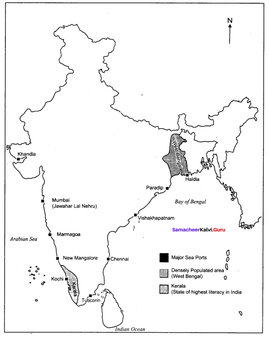 Samacheer Kalvi 10th Social Science Geography Solutions Chapter 5 India Population, Transport, Communication, and Trade 51