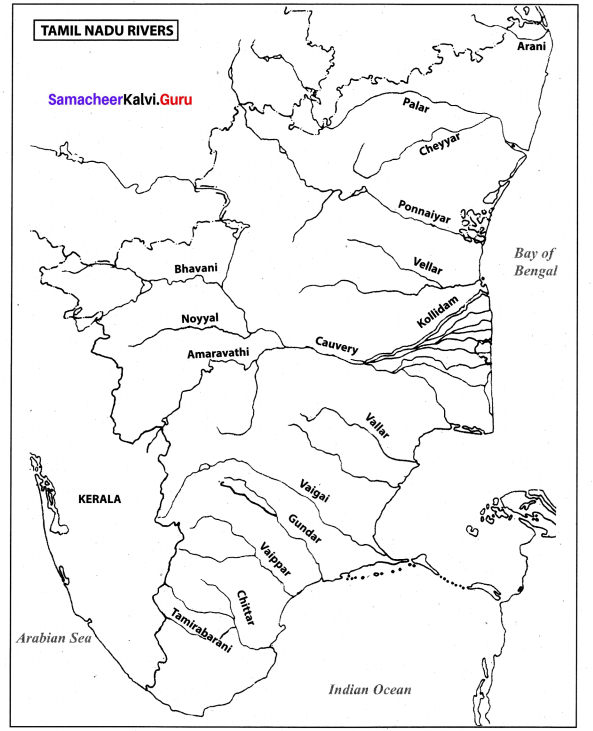 State The Boundaries Of Tamil Nadu Class 10 Samacheer Kalvi Social Science Geography Solutions Chapter 6