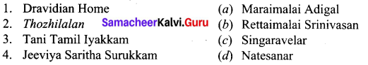 Social Transformation In Tamil Nadu Samacheer Kalvi 10th Social Science History Solutions Chapter 10