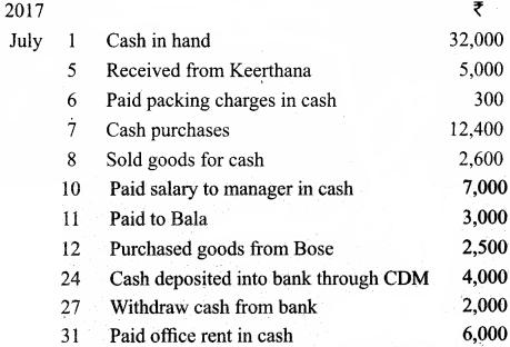 Class 11 Accountancy Chapter 7 Solutions Samacheer Kalvi Subsidiary Books – II