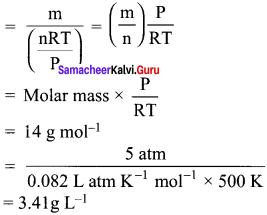 Samacheer Kalvi.Guru 11th Chemistry Solutions Chapter 6 Gaseous State