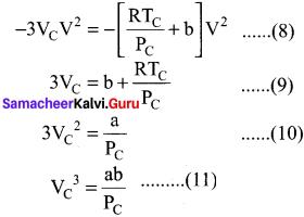 Samacheer Kalvi 11th Chemistry Solution Chapter 6 Gaseous State