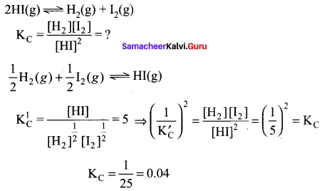 Samacheer Kalvi 11th Chemistry Solutions Chapter 8 Physical and Chemical Equilibrium-19
