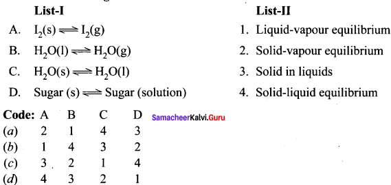 Samacheer Kalvi 11th Chemistry Solutions Chapter 8 Physical and Chemical Equilibrium-25