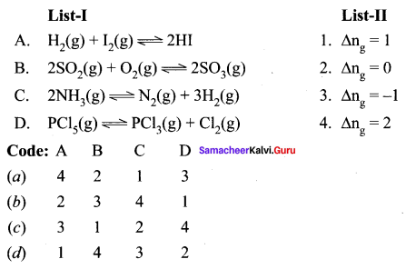Samacheer Kalvi 11th Chemistry Solutions Chapter 8 Physical and Chemical Equilibrium-26