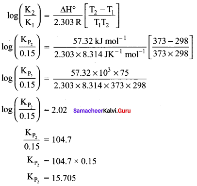 Samacheer Kalvi 11th Chemistry Solutions Chapter 8 Physical and Chemical Equilibrium-5