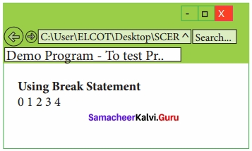 Samacheer Kalvi 11th Computer Applications Solutions Chapter 15 Control Structure in JavaScript img 5