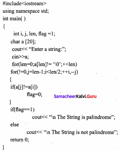Samacheer Kalvi 11th Computer Science Solutions Chapter 12 Arrays and Structures 10