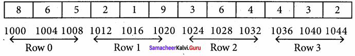 Samacheer Kalvi 11th Computer Science Solutions Chapter 12 Arrays and Structures 22