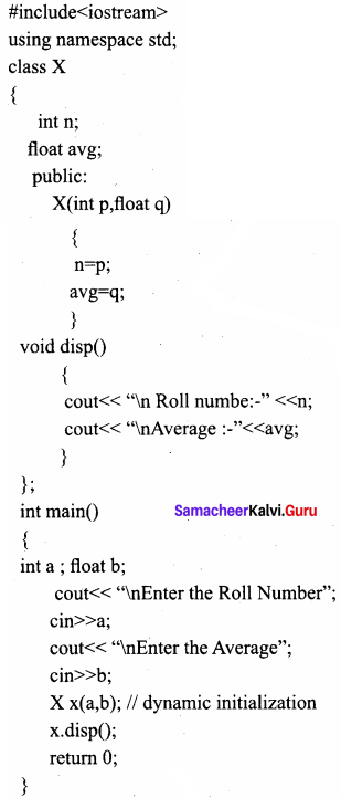 Samacheer Kalvi 11th Computer Science Solutions Chapter 14 Classes and Objects 2