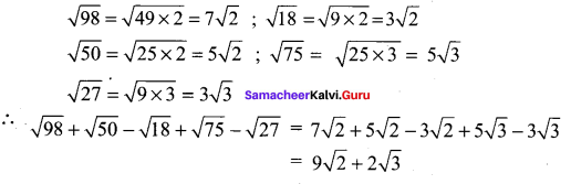 Samacheer Kalvi 11th Maths Solutions Chapter 2 Basic Algebra Ex 2.11 23
