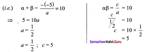 Samacheer Kalvi 11th Maths Solutions Chapter 2 Basic Algebra Ex 2.4