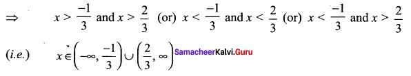 Samacheer Kalvi 11th Maths Solutions Chapter 2 Basic Algebra Ex 2.5 7