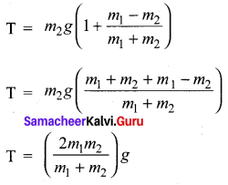 Class 11 Physics Samacheer Kalvi Solutions Chapter 3 Laws Of Motion