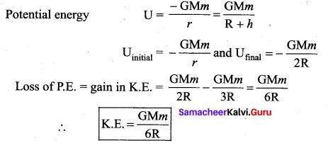 Samacheer Kalvi 11th Physics Solutions Chapter 6 Gravitation 10