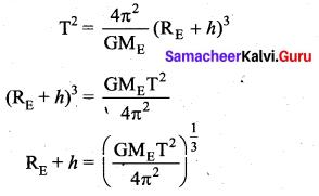 Samacheer Kalvi 11th Physics Solutions Chapter 6 Gravitation 102