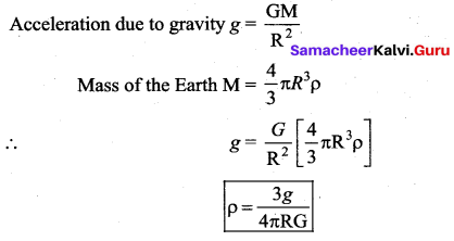 Samacheer Kalvi 11th Physics Solutions Chapter 6 Gravitation 14