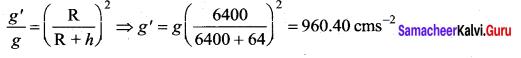 Samacheer Kalvi 11th Physics Solutions Chapter 6 Gravitation 149