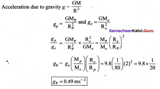 Samacheer Kalvi 11th Physics Solutions Chapter 6 Gravitation 15