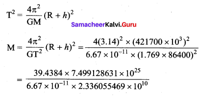 Samacheer Kalvi 11th Physics Solutions Chapter 6 Gravitation 208