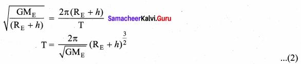 Samacheer Kalvi 11th Physics Solutions Chapter 6 Gravitation 94